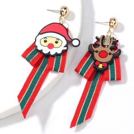 Christmas Resin Santa Claus Elk Grosgrain Ribbon Earrings  NHJE262491's discount tags