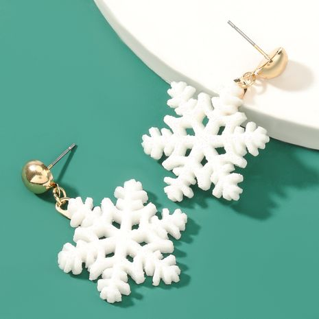 Christmas series simple resin snowflake earrings  NHJE262496's discount tags