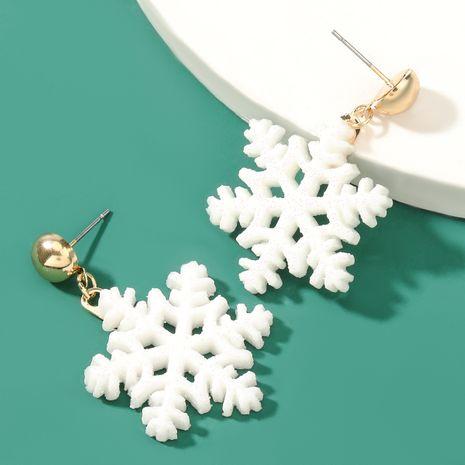 Pendientes de copo de nieve de resina simple serie navideña NHJE262496's discount tags