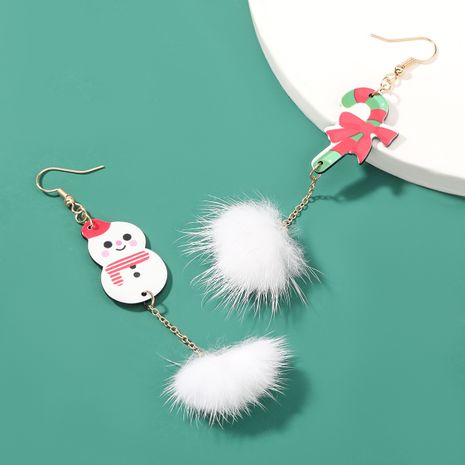 Christmas Series Resin Christmas Cane Snowman Feather Earrings  NHJE262501's discount tags