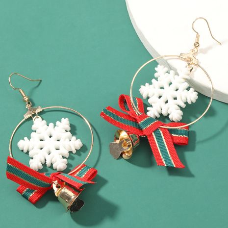 Christmas Series Resin Snowflake Bow Bell Earrings  NHJE262504's discount tags