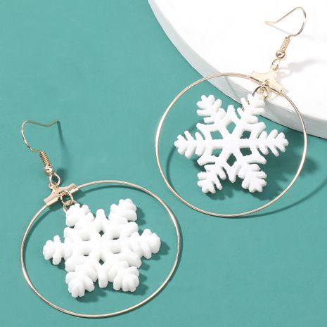 fashion snowflake earrings NHJE262511's discount tags