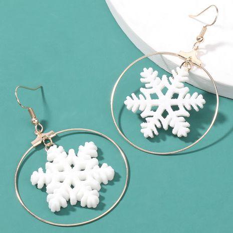 pendientes de copo de nieve de moda NHJE262511's discount tags