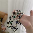 Retro texture pearl flashing diamond headband   NHYQ262554