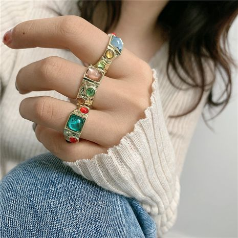 Bague de couleur ronde de style palais rétro NHYQ262559's discount tags