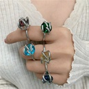 popular twisted claw set gem ring fashion exquisite index finger ring  NHYQ262560