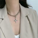 Fashion cross temperament simple necklace  NHYQ262567