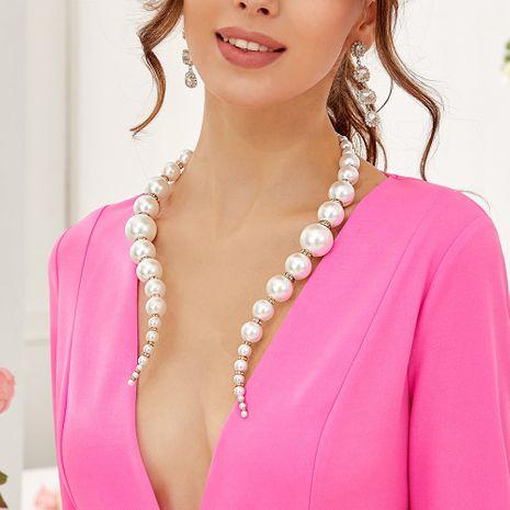 collar de perlas grandes de las mujeres de la moda al por mayor NHMD262947's discount tags