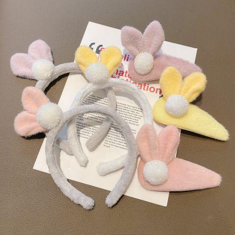 Korea new  furry rabbit ears cute hairpin  or headband  NHCQ262626's discount tags