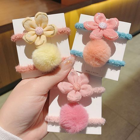 Korea flower  simple hair rope set  NHCQ262629's discount tags