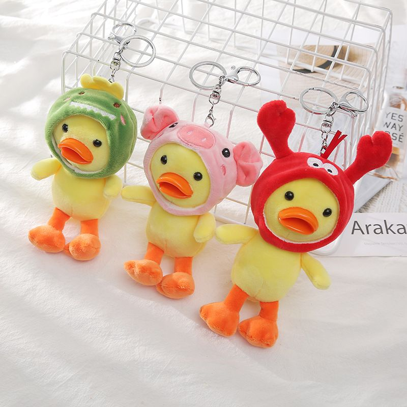 Hot cartoon cute little yellow duck keychain  NHAE262645
