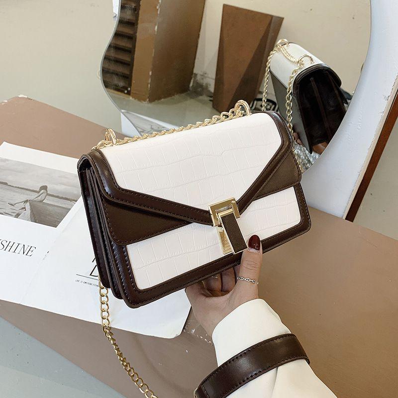 new trendy Korean wild oneshoulder messenger fashion chain small square bag NHJZ262653