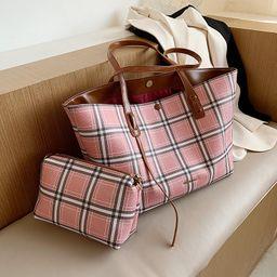 Check all-match large-capacity  new trendy fashion single shoulder bag  NHJZ262663