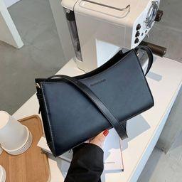 milk tea color fashion  retro one-shoulder  trendy white baguette bag NHJZ262675