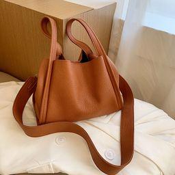 Korean  personality simple vegetable basket portable  bucket bag NHJZ262676