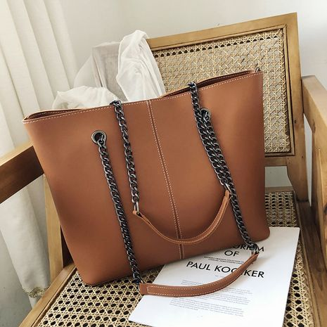 new trendy Korean  large  simple commuter tote bag NHJZ262695's discount tags
