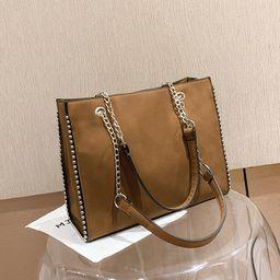 new Korean fashion  crossbody  chic fashion chain rivet frosted shoulder bag  NHJZ262697
