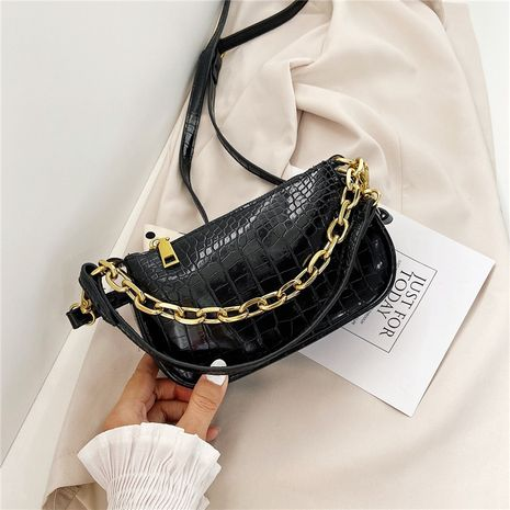 New  Korean retro crocodile pattern small bag portable chain bag  NHRU262714's discount tags