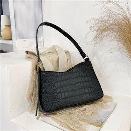 New trendy fashion all-match simple one-shoulder diagonal stone pattern  bag NHRU262718