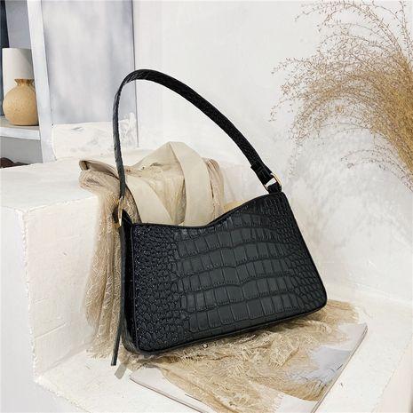 Neue trendige Mode All-Match einfache Tasche mit einer Schulter und diagonalem Steinmuster NHRU262718's discount tags