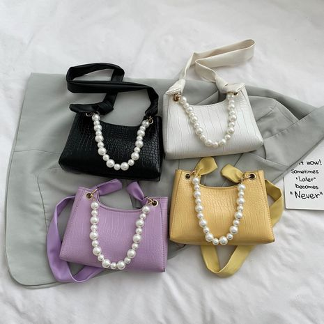 French new fashion pearl  texture popular bag  NHXC262740's discount tags