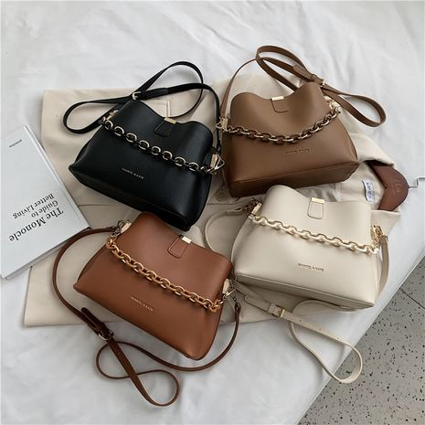 new fashion all-match trend Korean soft leather bucket bag NHLH262790's discount tags