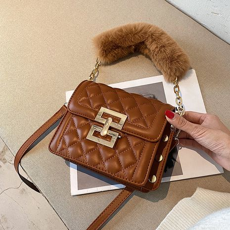 Lingge embroidery thread  new trendy fashion  wild single shoulder messenger portable small square bag NHLH262804's discount tags