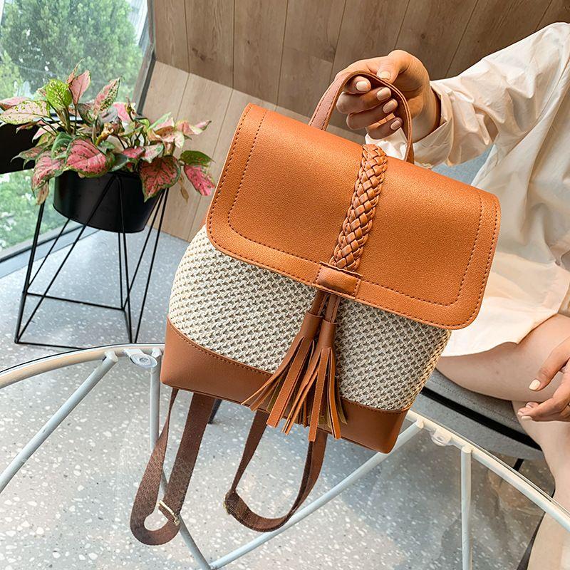 new fashion  tassel woven backpack NHGA262894