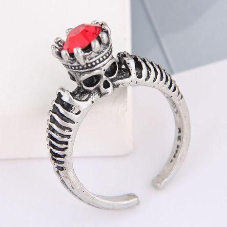 anillo de personalidad de calavera de piedras preciosas simples retro de moda NHSC262915's discount tags
