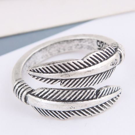 anillo de personalidad de hoja simple retro de moda NHSC262916's discount tags