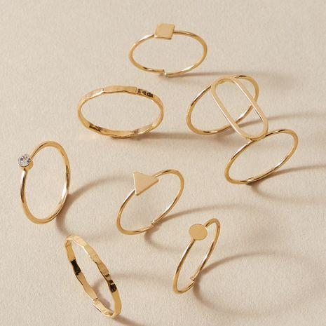 Conjunto de anillos conjuntos de tendencia simple de moda NHAJ262908's discount tags