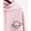 Spring new loose longsleeved hooded printed short sweater NHJG262927