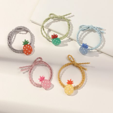 new Korean acrylic fruit hair rope cute high elastic rubber band girls strawberry hair scrunchie NHNU262994's discount tags