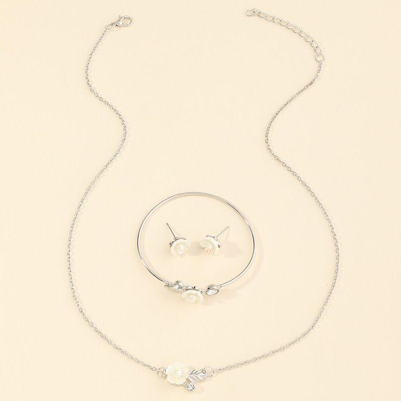 new children's jewelry set pearl alloy jewelry set necklace earrings bracelets wholesale NHNU262999