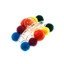 Korean colorful hair ball bangs clip headdress fashion back head plush clip hairpin for women NHAU263005