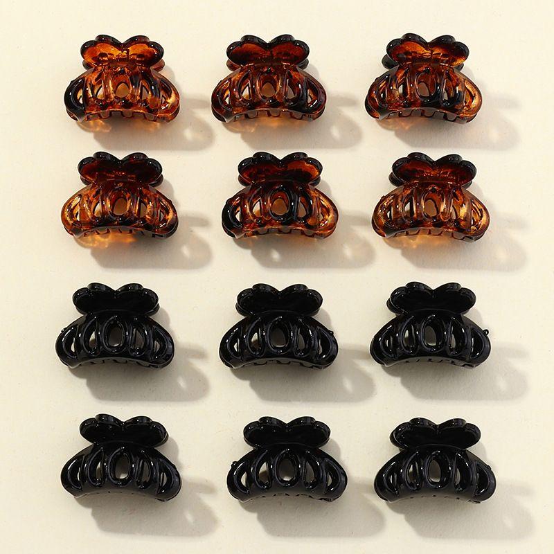 Korean black plate hair clip small hair clip back of the head bangs top clip hair clip headdress for women NHAU263013