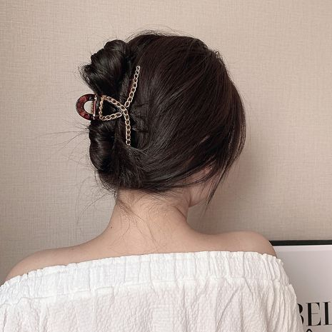 Korea new catch clip pearl hair catch disc hair device wild retro elegant hair clip for women NHCQ263022's discount tags