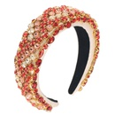 heavy industry Baroque headband sponge crystal glass beads threecolor headwear prom bridal hair accessories NHCO263035