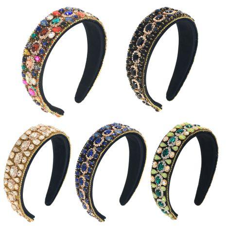 Bandeau baroque de l'industrie lourde en verre strass cheval yeux cerceau bandeau de bal NHCO263036's discount tags