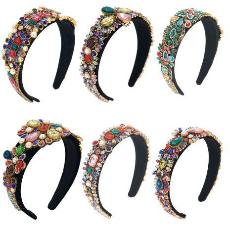 Diadema barroca con diamantes de imitación de cristal todos los sombreros de mesa en T de tres centímetros cosidos a mano NHCO263039's discount tags