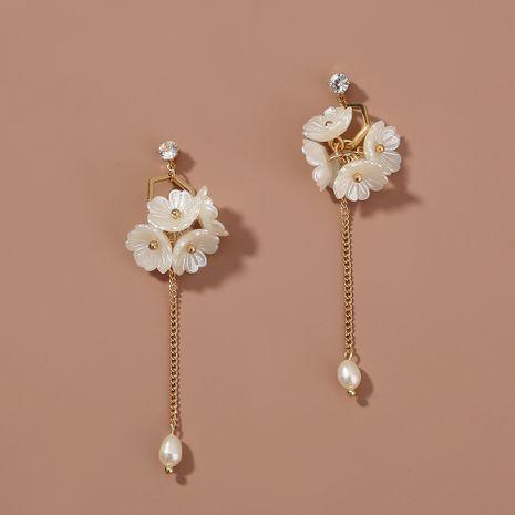 Corée bijoux rétro long gland 5 petites fleurs boucles d'oreilles NHAN263047's discount tags