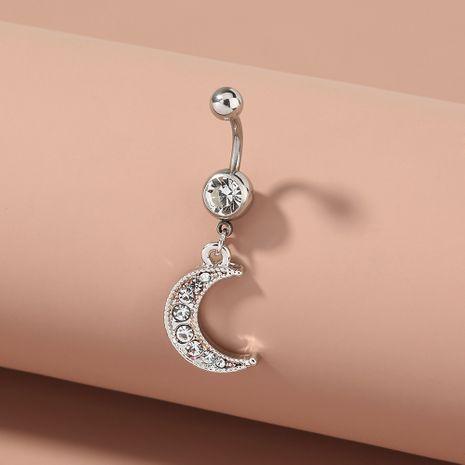 moda ombligo anillo luna diamante colgante acero inoxidable ombligo clavo NHAN263049's discount tags