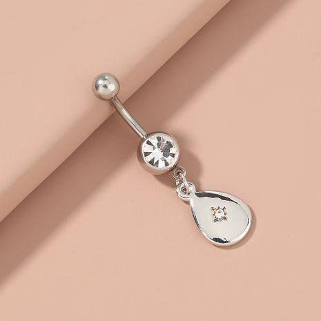 gota de agua con incrustaciones de circonio ombligo uñas anillo de punción NHAN263050's discount tags