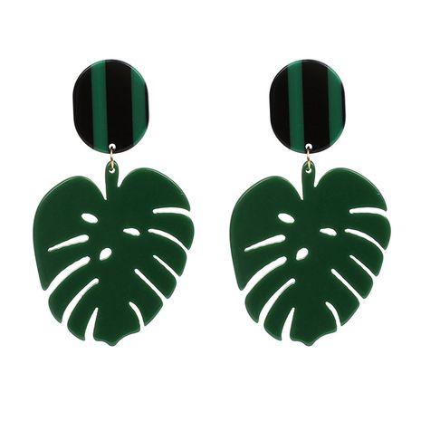 grüne Blätter Ohrringe Acrylplatte Retro-Stil Ohrringe NHRN263062's discount tags