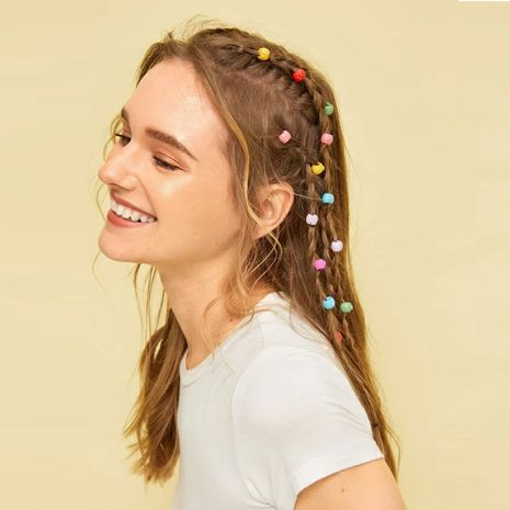 new candy color small hair clip simple braid hair clip set 20 pieces random colors NHPJ263070's discount tags