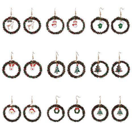 boucles d'oreilles créatives de Noël bonhomme de neige en gros NHJJ263077's discount tags