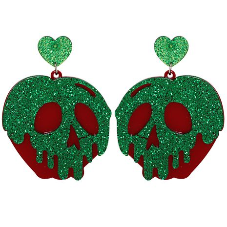 fashion creative funny earrings retro trend heart-shaped hollow skull earrings NHJJ263078's discount tags