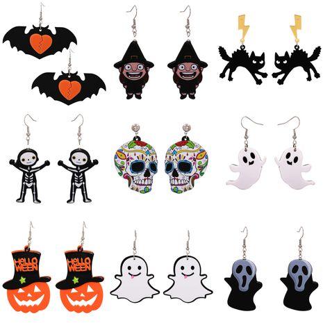 Halloween Funny Pumpkin Acrylic Earrings Little Witch Resin Earrings NHJJ263079's discount tags
