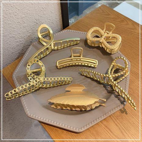 Coréen élégant métal grande attrape-tête arrière plaque de tête attrape-cheveux alliage tête de boule perle épingle à cheveux NHOF263087's discount tags
