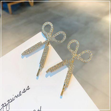 une pince à mots ciseaux une pince latérale diamants diamants faits à la main accessoires de cheveux simples NHOF263088's discount tags